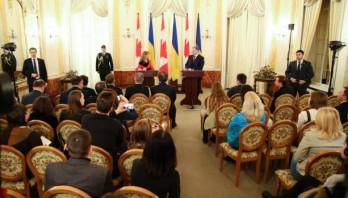 Україна та Канада активно співпрацюють у впроваджені українських реформ – Президент