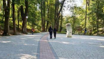 У Трускавці триває реконструкція міського парку
