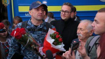 Львівщина зустріла матроса Військово-морських сил України Андрія Оприска