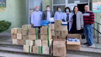 Юрій Холод передав засоби захисту та тести Кам'янка-Бузькій лікарні