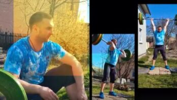Львівські важкоатлети показали свої тренування в умовах карантину