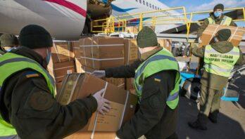 У Міжнародний аеропорт «Бориспіль» (Київ) прибув літак, який доправив з Китаю в Україну ще 100 тис. високоточних ПЛР-тестів
