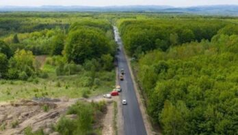 На ділянці об'їзду міста Моршин покращили дорожнє покриття
