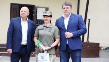 Керівництво району привітали військовослужбовців особового складу військової частини А3719